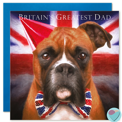 Father's Day Card Boxer 'BRITAIN'S GREATEST DAD'