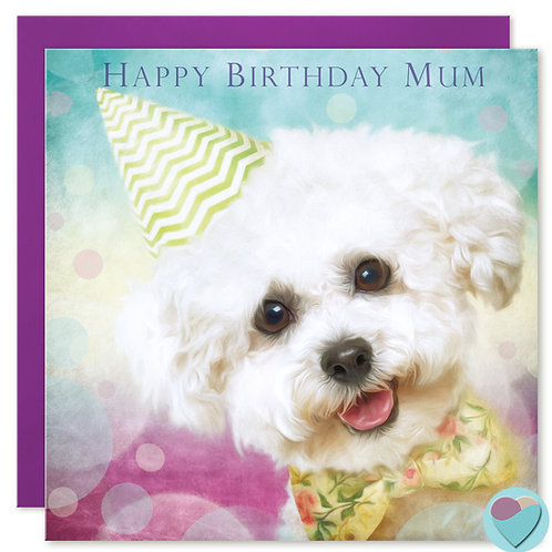 Mum Birthday Card 'HAPPY BIRTHDAY MUM'