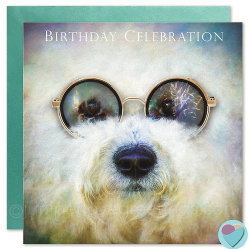 Birthday Card Bichon Frise Lover 'BIRTHDAY CELEBRATION'
