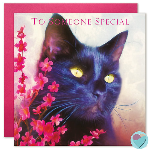 Black Cat Greeting Card 'TO SOMEONE SPECIAL'