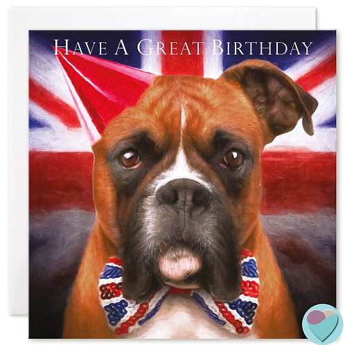 Birthday Card Boxer 'HAVE A GREAT BIRTHDAY'