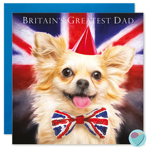 Dad Greeting Card 'BRITAIN'S GREATEST DAD'