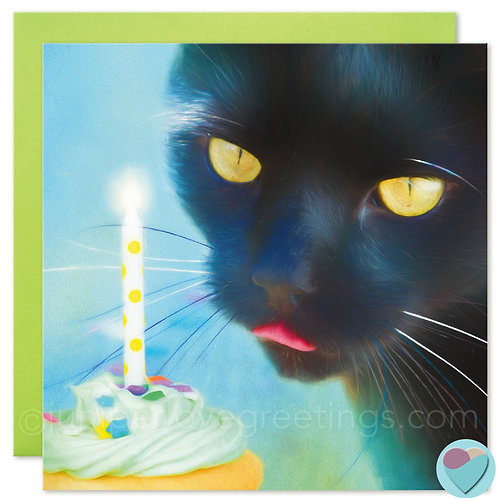 BLANK Cat Card For Black Cat Lovers
