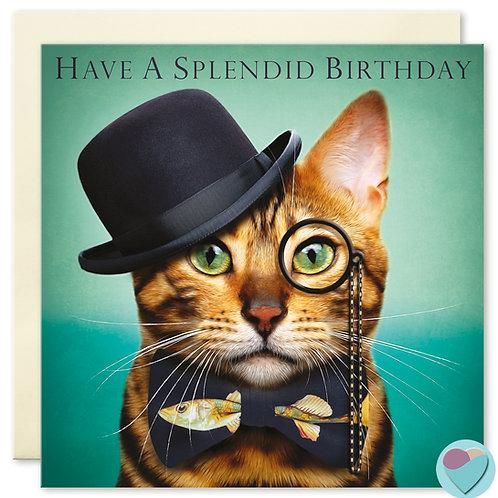 Bengal Cat Birthday Card  HAVE A SPLENDID BIRTHDAY