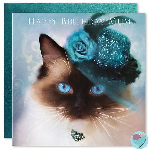 Mum Birthday Card 'HAPPY BIRTHDAY MUM'