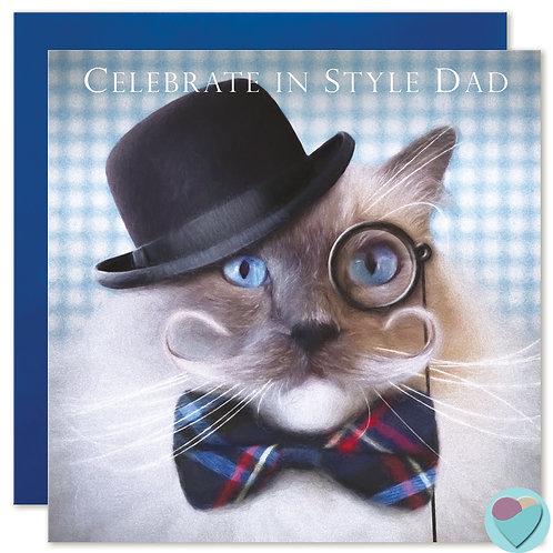 Ragdoll Cat Dad Card 'CELEBRATE IN STYLE DAD'