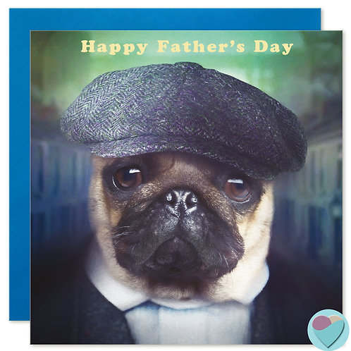 Pug Father's Day Card ' HAPPY FATHER'S DAY'