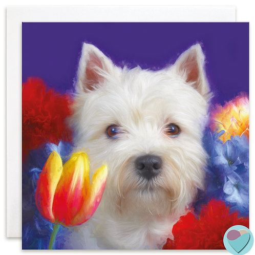 West Highland Terrier Card BLANK