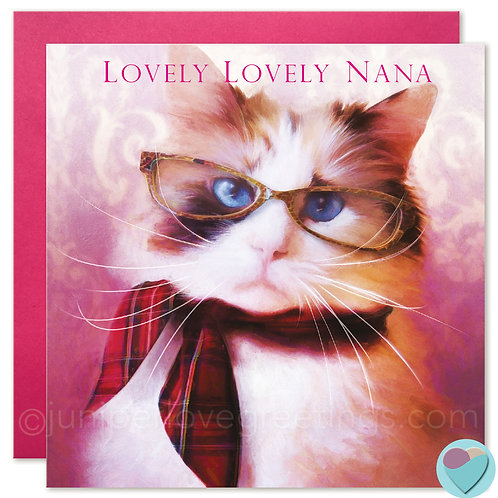 Ragdoll Cat Birthday Card 'LOVELY LOVELY NANA'