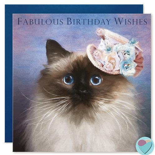 Birman Birthday Card  FABULOUS BIRTHDAY WISHES