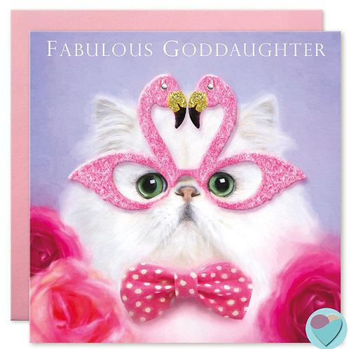 Goddaughter Birthday Card 'FOR A FABULOUS GODDAUGHTER'
