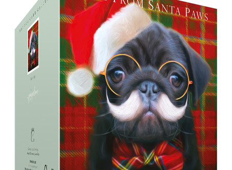 Funny Pug Christmas card for all dog lovers!