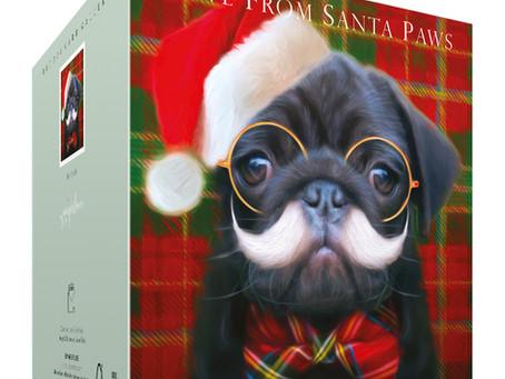 Funny Pug Christmas card for all dog lovers!