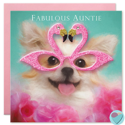 Chihuahua Auntie Birthday Card 'FABULOUS AUNTIE'