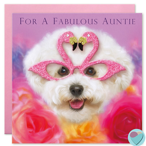 Auntie Birthday Card  'FOR A FABULOUS AUNTIE'