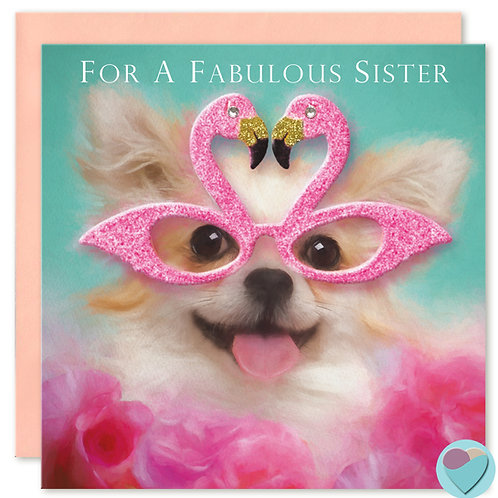 Chihuahua Sister Birthday Card 'FOR A FABULOUS SISTER'