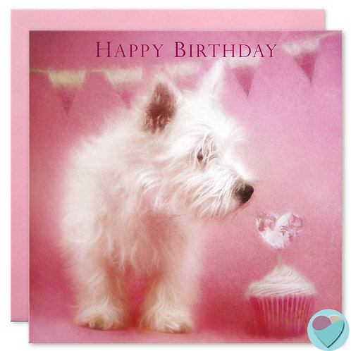 Westie Birthday Card 'HAPPY BIRTHDAY'