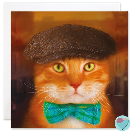 Ginger Cat Card - Blank for any occasion