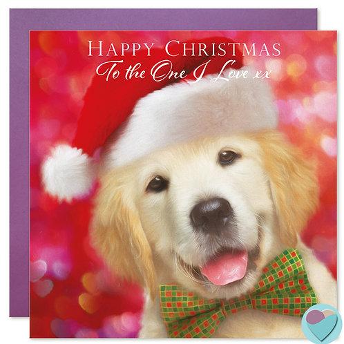 Labrador Christmas Card 'TO THE ONE I LOVE'