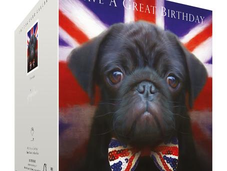 New Black Pug Birthday Card!