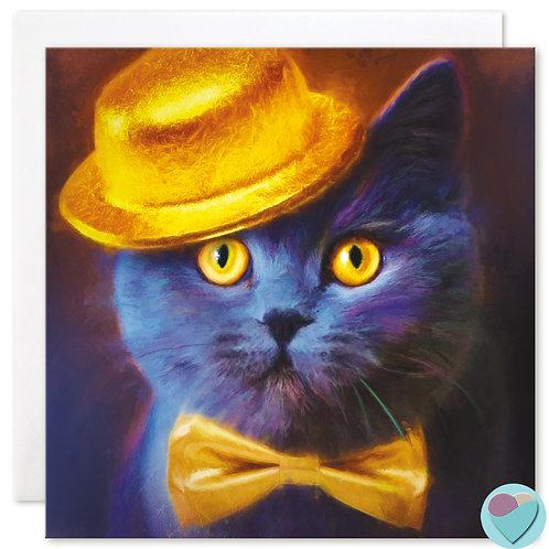 British Blue Cat Card BLANK