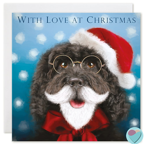 Cockapoo Christmas Card 'WITH LOVE AT CHRISTMAS'