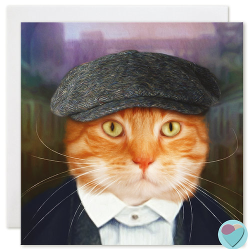 Ginger Cat Note Card