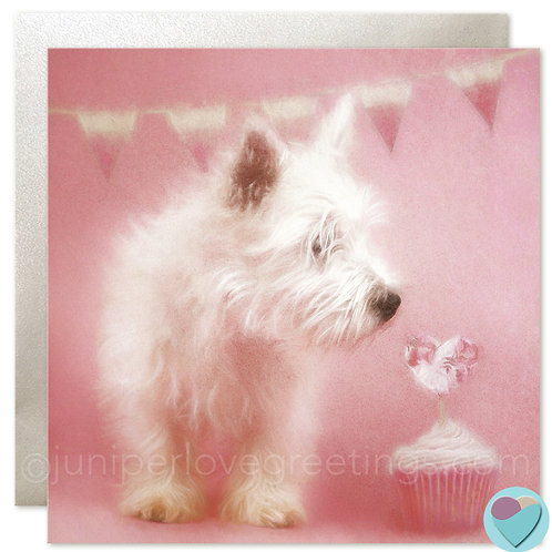 BLANK Dog Card For Westie West Highland Dog Puppy Lovers