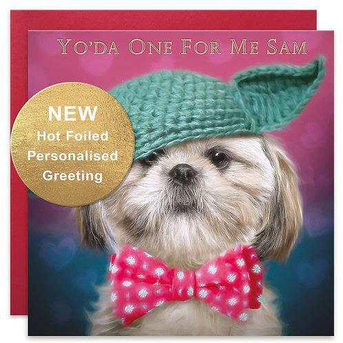PERSONALISED Shih-Tzu Valentine's Day Card by Juniperlove Greetings