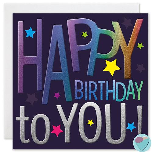 Boys Birthday Card HAPPY BIRTHDAY TO YOU