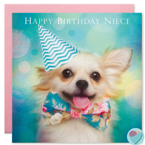 Chihuahua Niece Birthday Card 'HAPPY BIRTHDAY NIECE'