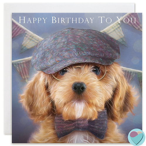 Cockapoo Birthday Card 'HAPPY BIRTHDAY TO YOU'