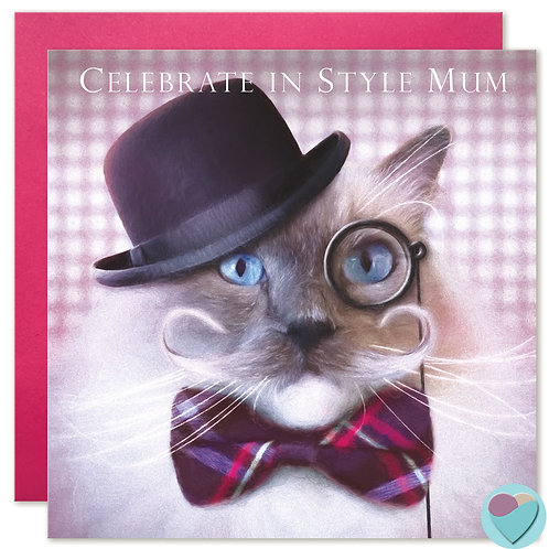 Ragdoll Cat Mum Card 'CELEBRATE IN STYLE MUM'