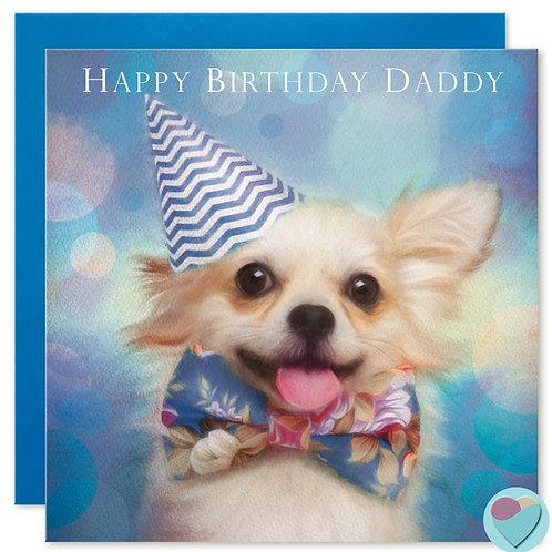 Chihuahua Daddy Birthday Card 'HAPPY BIRTHDAY DADDY'