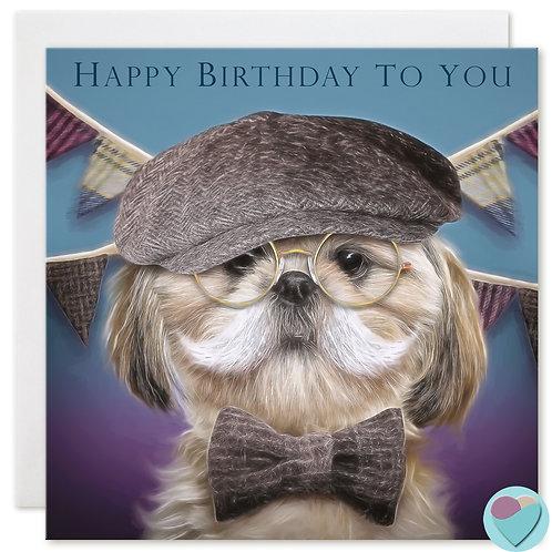 Shih-Tzu Birthday Card 'HAPPY BIRTHDAY TO YOU'