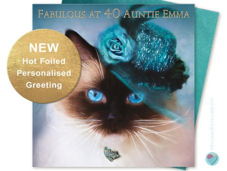 PERSONALISED Ragdoll Cat Birthday Card by Juniperlove Greetings