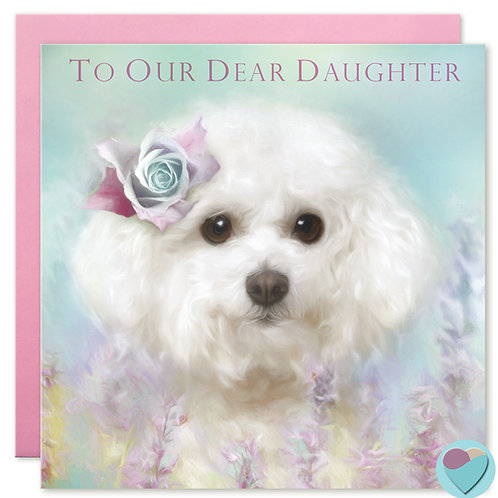 Daughter Birthday Card 'TO OUR DEAR DAUGHTER'