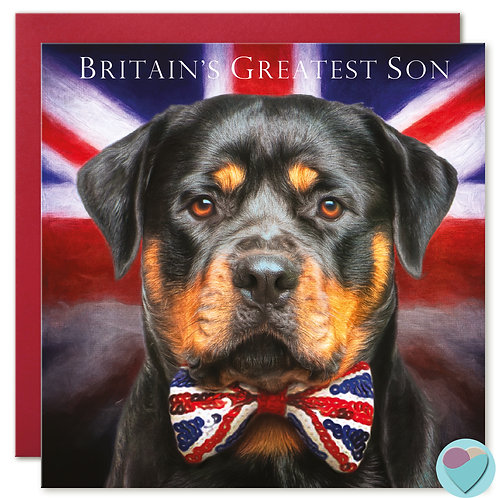 Son Birthday Card 'BRITAIN'S GREATEST SON'