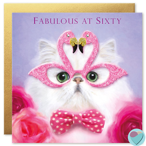 60th Birthday Card 'FABULOUS AT SIXTY'