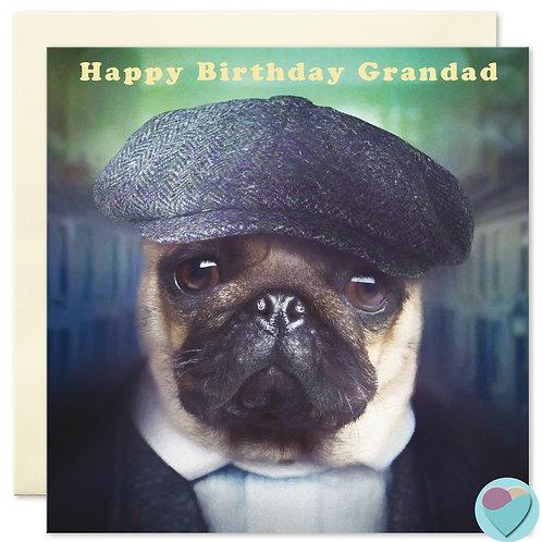 Grandad Birthday Pug Card 'HAPPY BIRTHDAY GRANDAD'
