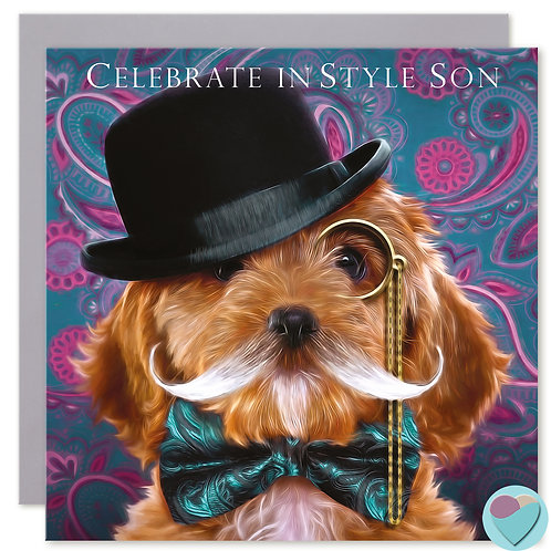 Son Greeting Card 'CELEBRATE IN STYLE SON'