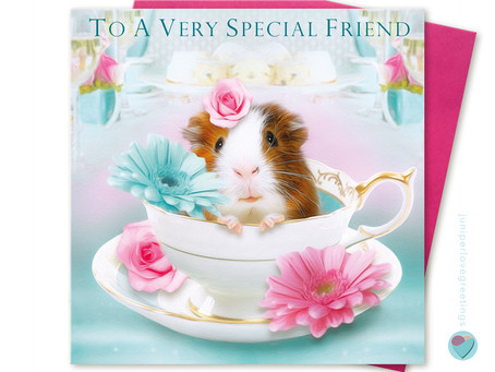 PERSONALISED Guinea Pig Birthday Cards for girls by Juniperlove Greetings!