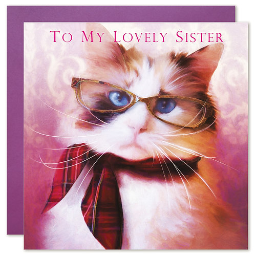 Ragdoll Cat Birthday Card 'TO MY LOVELY SISTER'