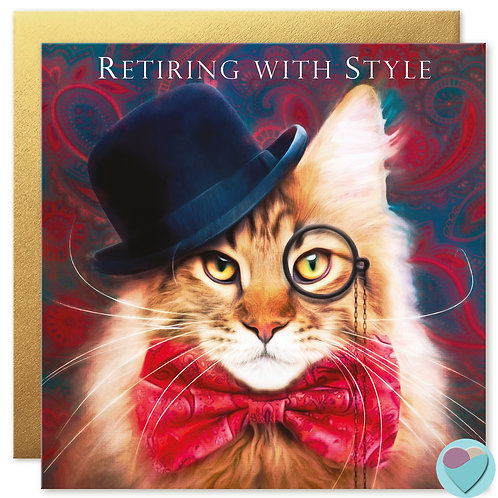 Retirement Card 'RETIRING WITH STYLE'