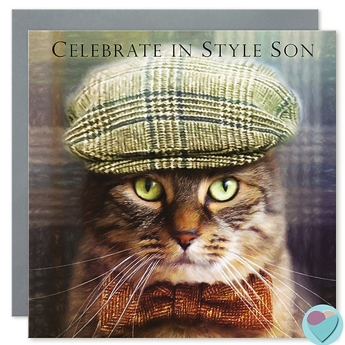 SON Birthday Card 'CELEBRATE IN STYLE DAD'