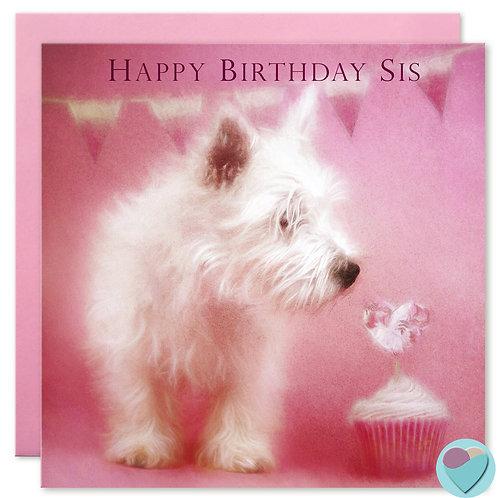 Sister Birthday Card 'HAPPY BIRTHDAY SIS'