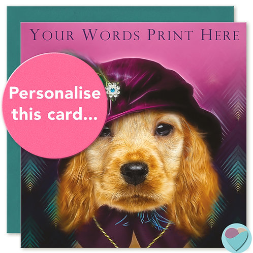 PERSONALISED Cocker Spaniel Birthday Card