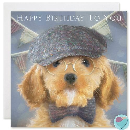 Cockapoo Birthday Card 'HAPPY BIRTHDAY TO YOU'