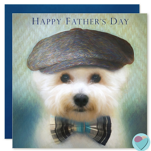 Bichon Frise Father's Day Card 'HAPPY FATHER'S DAY'