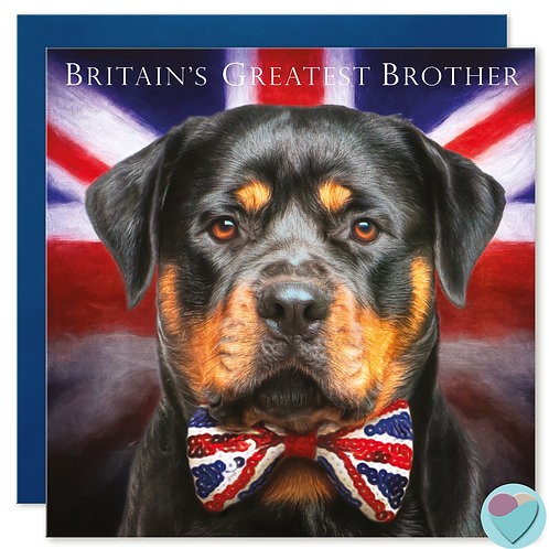 Brother Birthday Card 'BRITAIN'S GREATEST BROTHER'